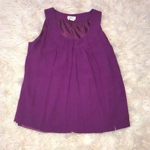 Kate spade purple sleeveless Blouse